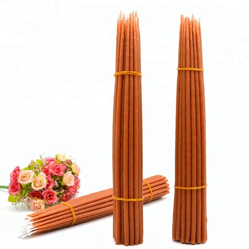 Wholesale religious prayer blessed beeswax orthodox church candles