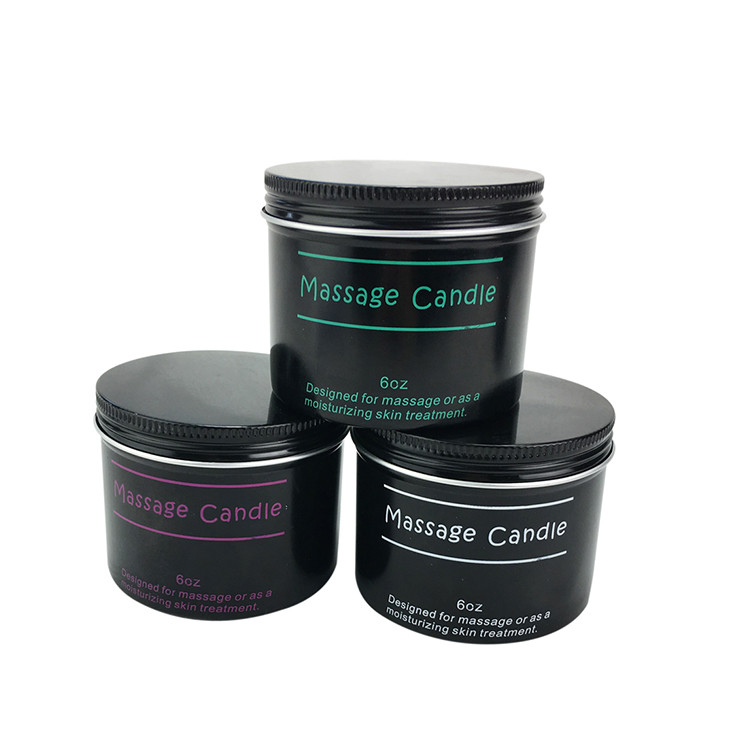 Wholesale luxury essential oil soy wax body massage candle